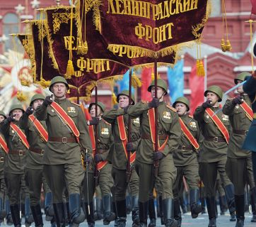 Military parade dedicated to the 63rd anniversary of the Soviet Union's victory in the 1941-1945 Great Patriotic War. Image: RIA Novosti