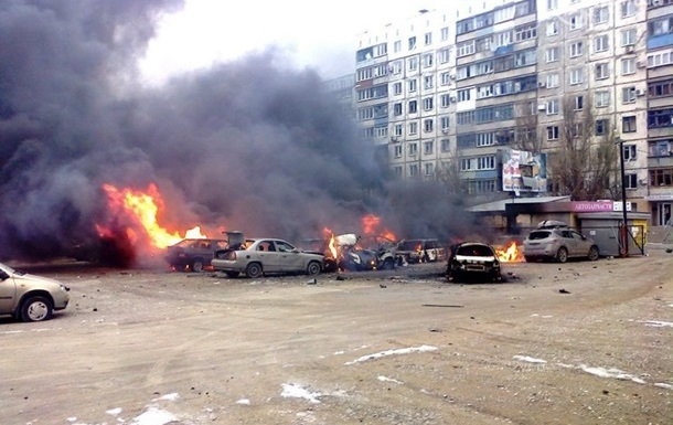 Aftermath of the artillery attack on Mariupol in January