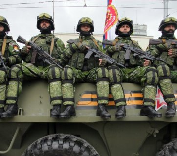 Russian troops