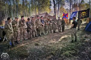 A camp for the preparation of mercenaries for Russia's war in Ukraine with a group for school-age youths. The camp is located in the territory of a Russian Orthodox monastery of the Moscow Patriarchate near the city of Chernogolovka near Moscow. September 2015. (Image: ENOT Corp.)