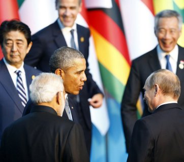 World leaders at G20 meeting in Antalya, Turkey, November 2015 (Image: Mehmet Ali Ozcan/Anadolu)