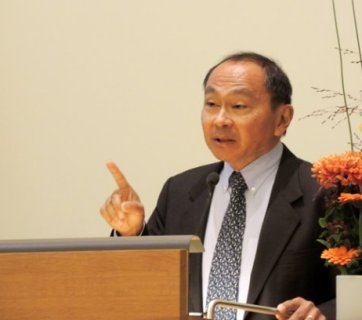 Francis Fukuyama during his visit to Kyiv