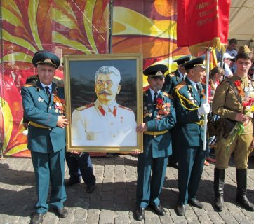 Kharkiv communist Stalin parade portrait