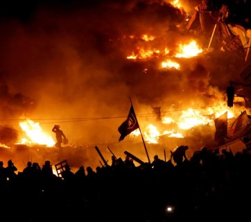 Maidan on fire, the Revolution of Dignity