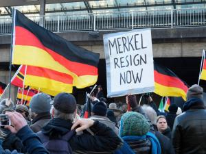 German far-right protesters at Cologne's main train station in January 2016. (Image: AFP)