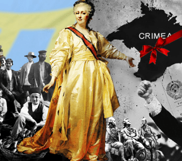 Russian myths about Crimea (Image: Ganna Naronina, EUROMAIDAN PRESS)