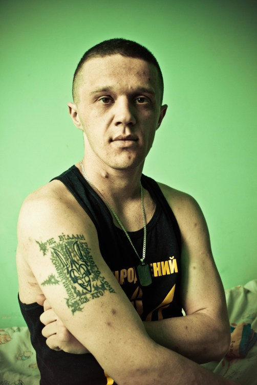 Tattoo on Vadym's arm: Never will I surrender my home to anyone!