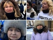 "Donetsk refugee, Odesa refugee, mother of a soldier and Kyiv protester -  ""all-in-one"" hero of various Russian media reports. Image from belaruspartisan.org"