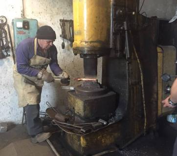 "70-year- old businessman Pavlo Stepanov opened a blacksmith workshop in Kharkiv region after the war forced him to leave his native Luhansk. Photo provided by the ""Big Stories of Small Businesses"" project press service"
