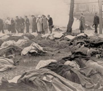 The corpses of prisoners of the Lviv NKVD jail who were hastily executed by the NKVD troops before fleeing the city from advancing Germans in July 1941. (Photo: cdvr.org.ua)