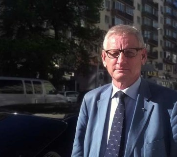 Carl Bildt in Kyiv. Photo: Viktoriia Zhuhan