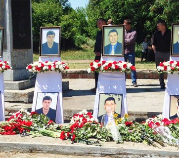 Graves to four Evangelical Christians who were murdered by separatists in Sloviansk in 2014
