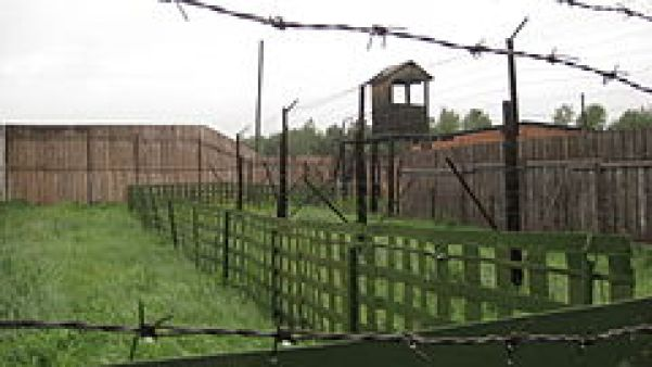 Fence and watchtower at Perm-36
