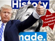 Donald Trump over an image he tweeted of Hillary Clinton evoking anti-Semitic stereotypes with a graphic that included dollar bills and a six-pointed star.