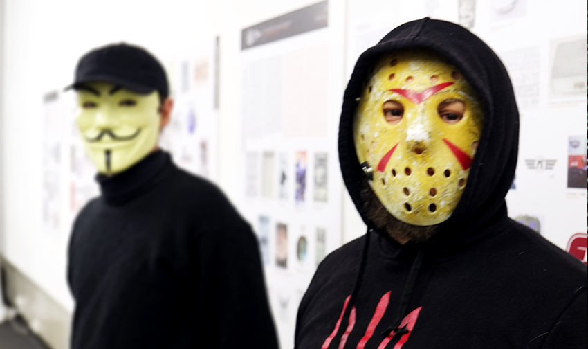 Sean (left) and Dahmer (right), hacktivists from RUH8. Photo: Euromaidan Press