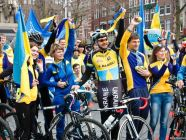 Demonstration in Amsterdam supporting the EU-Ukraine Association Agreement, April 2016.