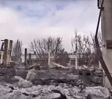 Aftermath of the explosion at Donetsk Chemical plant on February 14, 2017. Credit: Youtube video