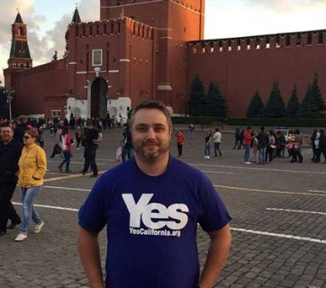 Louis Marinelli standing near the Kremlin
