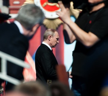 Putin in looking unsure