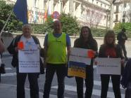 Participants of the rally against the Russian delegation's participation in the PACE meeting. Photo: courtesy