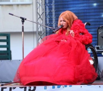 Yulia Samoylova performed at a concert in occupied Crimea on 27 June 2015. Photo; UKRINFORM