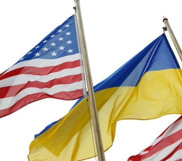 USA, America, Ukraine, flag