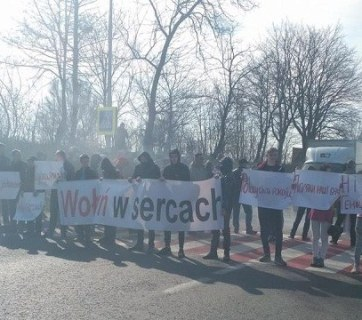 Paid demonstrators attempt to block traffic between Poland and Ukraine. Photo: Zaxid.net