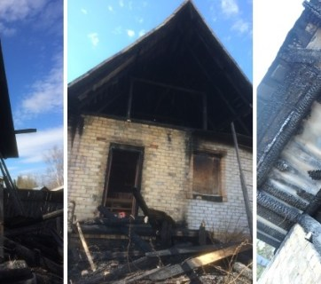 The firebombing of Jehovah's Witnesses hall in Zheshart, Komi Republic, Russia (Image: jw-russia.org)