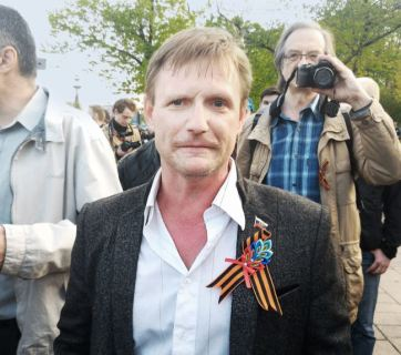 Alexander Petrunko at an opposition demonstration to mark the anniversary of the Bolotnaya Square demonstrations – 6 May 2016