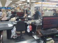 Cashier checkout computers infected with NotPetya malware in a supermarket in Kharkiv, eastern Ukraine. June 27 evening. Photo: Twitter
