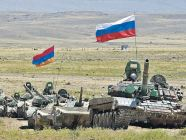 Armenian and Russian troops hold joint military drills at a polygon of the Gyumri Russian military base in Armenia in August 2013. Image: mil.ru