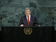 President Poroshenko speaking at the United Nations General Assembly on 20 September 2017. Photo: president.gov.ua