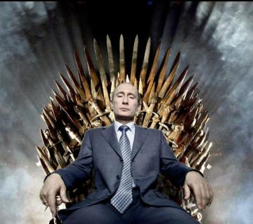 Putin on the throne of swords