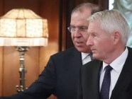 Council of Europe Secretary General Thorbjørn Jagland (left) with Russian Foreign Minister Sergey Lavrov. Photo: RFE/RL