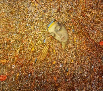 "From the painting of Ukrainian artist Ivan Marchuk, ""The Awakening"""