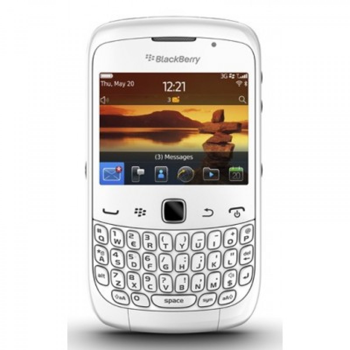Moviles Libres Blackberry Blackberry Movil 9300 Curve Blanca Compra En Euronics Es