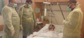وفد من حملة الوفاء الأوربية وتجمع الاطباء الفلسطينيين في أوروبا يزور جرحى غزة