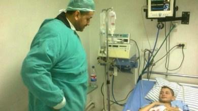 Photo of زيارة المرضى والجرحى الذين خرجوا من مخيم اليرموك في مشفى يافا التخصصي