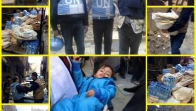 Photo of واصلت قافلة حملة الوفاء الأوروبية السابعة، لليوم الثالث على التوالي، المشاركة في تقديم المساعدات ﻷهلنا في مخيم اليرموك.