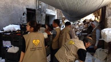 Photo of ﻷول مرة حملة الوفاء توزع مادة اللحم في مخيم اليرموك.