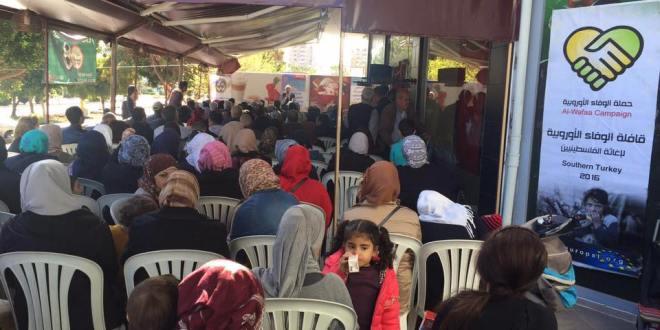 الوفاء الأوروبية تواصل دعم وإغاثة فلسطينيي الجنوب التركي