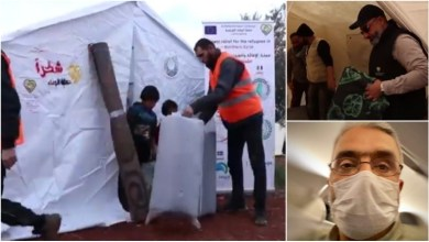 Photo of حملة الوفاء الأوروبية توقف عملها مؤقتاً في مخيم دير البلوط في الشمال السوري اثر إصابة المنسق العام للحملة بفيروس كورونا