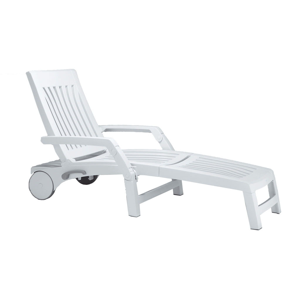 White Plastic Sun Loungers Nettuno Lounger Europa Leisure Uk