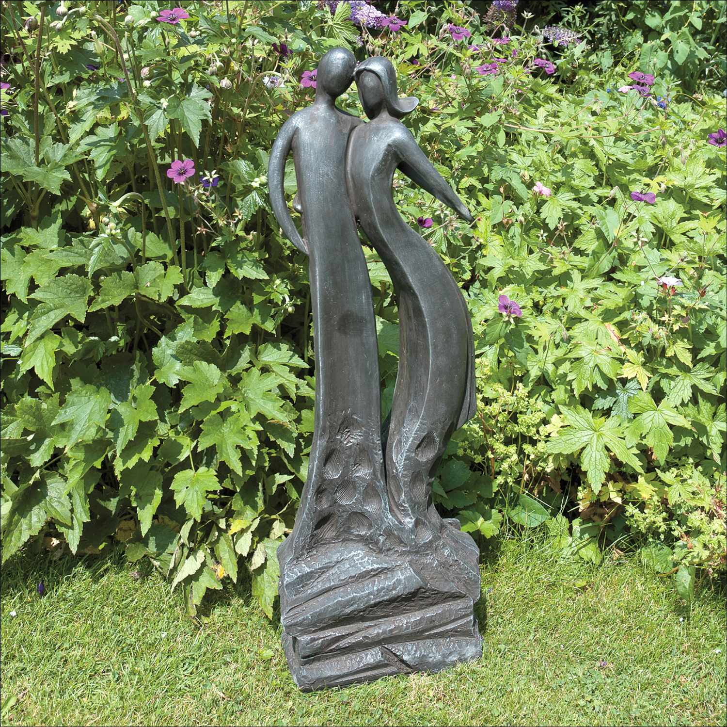 Home Garden Statues First Date Black Contemporary Statue