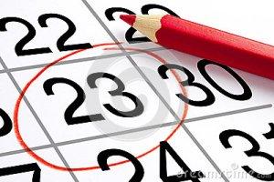 crayon-rouge-mark-calendar-appointment-de-perspective-42143152
