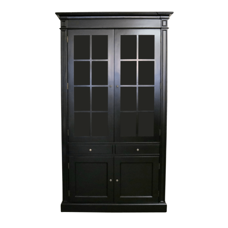 White Country French Kitchen Cabinets European Design French Provincial Display Cabinet In