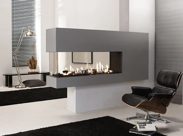 Kamin Gas Lucius 140 Room Divider By Element4 | Penninsula Fireplace