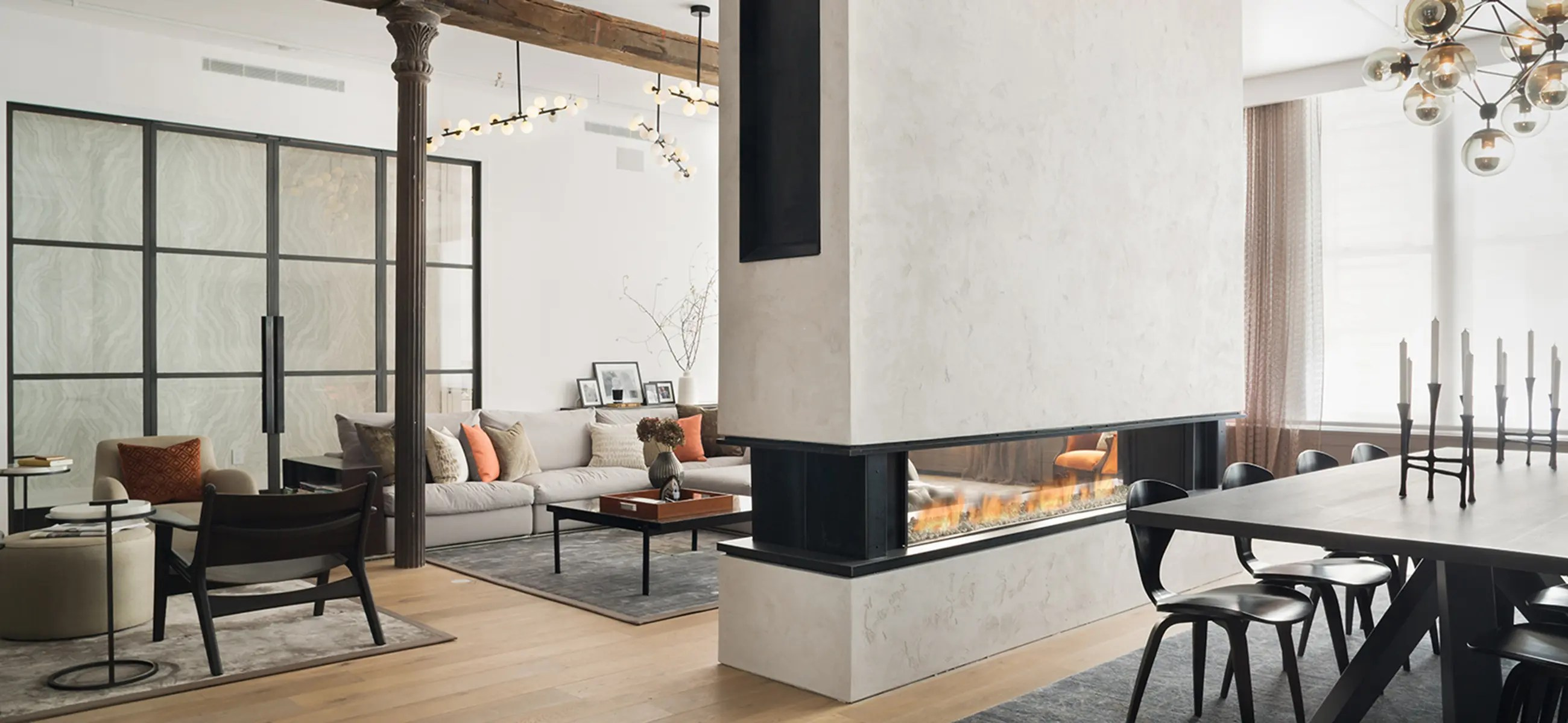 Modern Fireplaces Tenore 240 By Element4 See Through Fireplace Direct