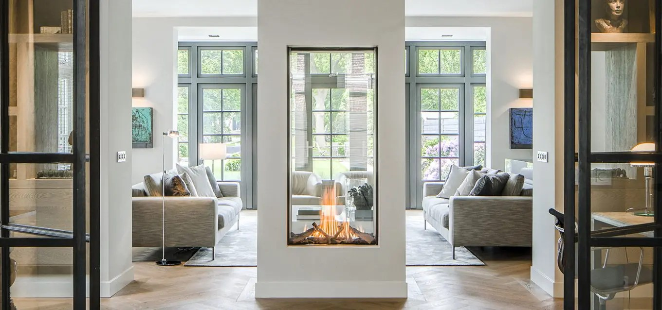 Design For Fireplace Sky Tunnel By Element4 Vertical See Through Gas Fireplace