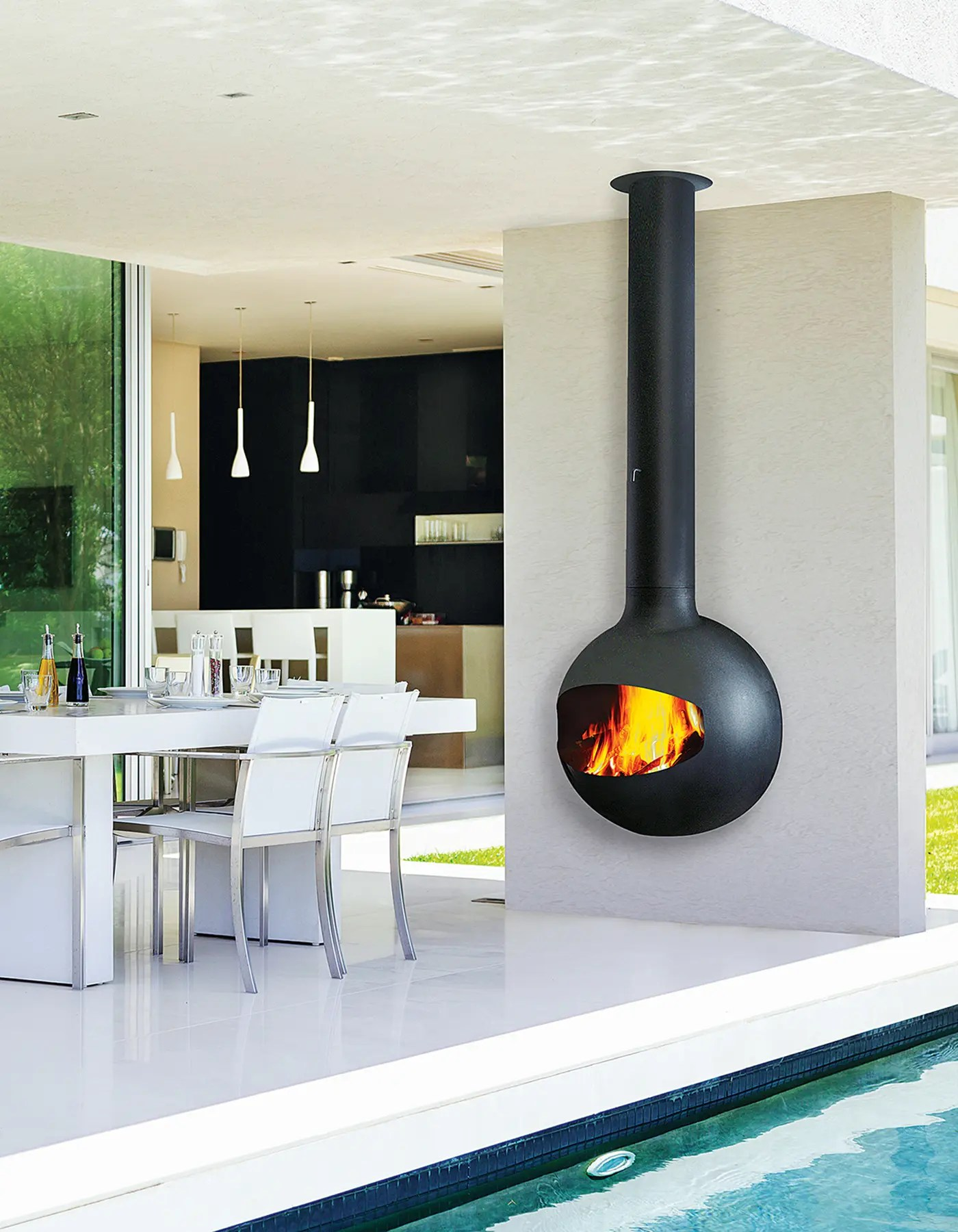 Cheminee Outdoor Emifocus Outdoor By Focus Fires Open Faced Outdoor Fireplace
